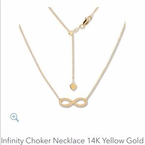 Infinity Choker Necklace 14K Yellow Gold